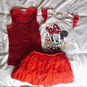Minnie Mouse Disney Skort Outfit
